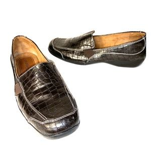 Natural Soul Sz 11 M Brown Croco Comfort Loafers